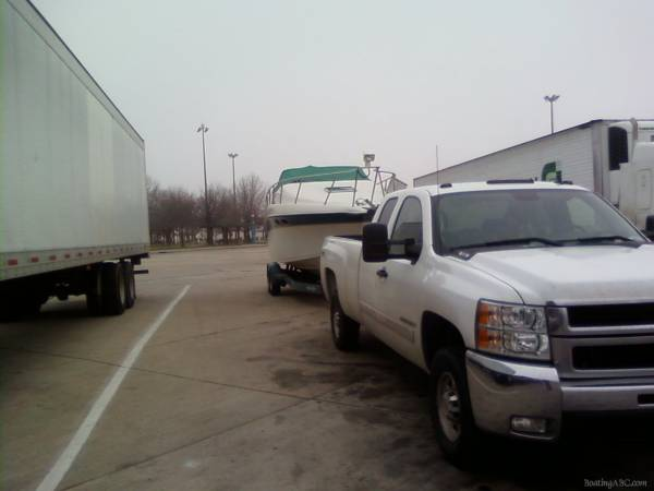 Trip home with the new boat